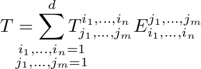 Expression of tensor product in basis, good formatting
