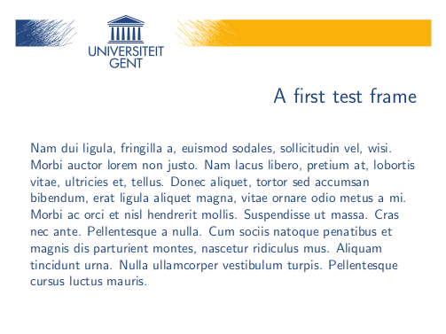 A second example slide from the UGent beamer theme
